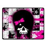 Scene Kid Girl Skull Double Sided Fleece Blanket (Small)