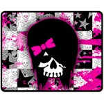 Scene Kid Girl Skull Double Sided Fleece Blanket (Medium)