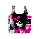 Scene Kid Girl Skull Full Print Recycle Bag (S)