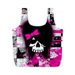 Scene Kid Girl Skull Full Print Recycle Bag (M)