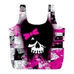 Scene Kid Girl Skull Full Print Recycle Bag (L)