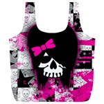 Scene Kid Girl Skull Full Print Recycle Bag (XL)