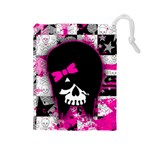 Scene Kid Girl Skull Drawstring Pouch (Large)