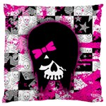 Scene Kid Girl Skull Large Flano Cushion Case (One Side)