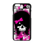 Scene Kid Girl Skull iPhone 6/6S Black Enamel Case