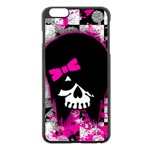 Scene Kid Girl Skull iPhone 6 Plus/6S Plus Black Enamel Case