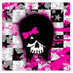 Scene Kid Girl Skull Large Satin Scarf (Square)