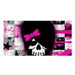 Scene Kid Girl Skull Satin Shawl