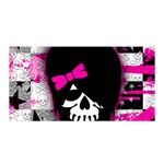 Scene Kid Girl Skull Satin Wrap