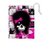 Scene Kid Girl Skull Drawstring Pouch (XL)