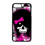 Scene Kid Girl Skull iPhone 7 Plus Seamless Case (Black)