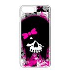Scene Kid Girl Skull iPhone 7 Plus Seamless Case (White)