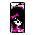 Scene Kid Girl Skull iPhone 7 Seamless Case (Black)