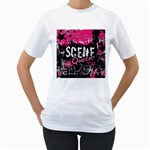 Scene Queen Women s T-Shirt (White) (Two Sided)