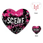 Scene Queen Playing Cards Single Design (Heart)