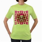 Skull Princess Women s Green T-Shirt
