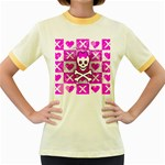 Skull Princess Women s Fitted Ringer T-Shirt