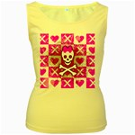 Skull Princess Women s Yellow Tank Top