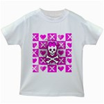Skull Princess Kids  White T-Shirt