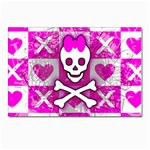 Skull Princess Postcard 4 x 6  (Pkg of 10)