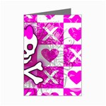 Skull Princess Mini Greeting Card