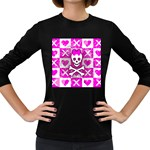 Skull Princess Women s Long Sleeve Dark T-Shirt