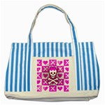 Skull Princess Striped Blue Tote Bag