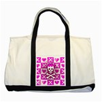 Skull Princess Two Tone Tote Bag