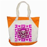 Skull Princess Accent Tote Bag