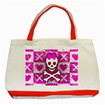 Skull Princess Classic Tote Bag (Red)