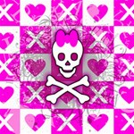 Skull Princess Canvas 12  x 12