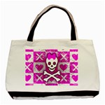 Skull Princess Basic Tote Bag (Two Sides)