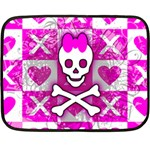 Skull Princess Double Sided Fleece Blanket (Mini)