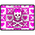 Skull Princess Fleece Blanket (Large)