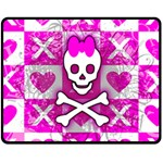 Skull Princess Fleece Blanket (Medium)