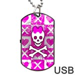 Skull Princess Dog Tag USB Flash (One Side)