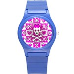 Skull Princess Round Plastic Sport Watch (S)