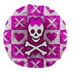 Skull Princess Large 18  Premium Round Cushion