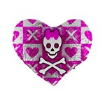 Skull Princess Standard 16  Premium Heart Shape Cushion