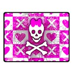 Skull Princess Double Sided Fleece Blanket (Small)