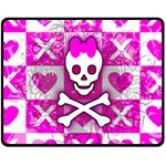 Skull Princess Double Sided Fleece Blanket (Medium)