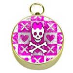 Skull Princess Gold Compass