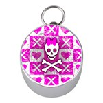 Skull Princess Silver Compass (Mini)