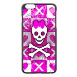 Skull Princess iPhone 6 Plus/6S Plus Black Enamel Case