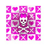 Skull Princess Small Satin Scarf (Square)