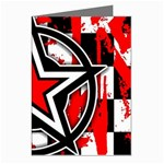 Star Checkerboard Splatter Greeting Card