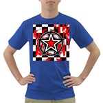 Star Checkerboard Splatter Dark T-Shirt