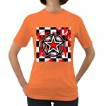 Star Checkerboard Splatter Women s Dark T-Shirt