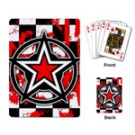 Star Checkerboard Splatter Playing Cards Single Design (Rectangle)