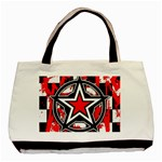 Star Checkerboard Splatter Basic Tote Bag